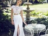 30 Beautiful Crop Top Wedding Gowns