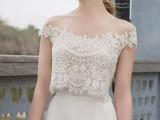 30 Beautiful Crop Top Wedding Gowns23