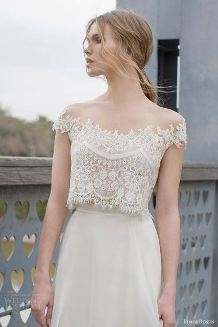 Picture Of Beautiful Crop Top Wedding Gowns 23