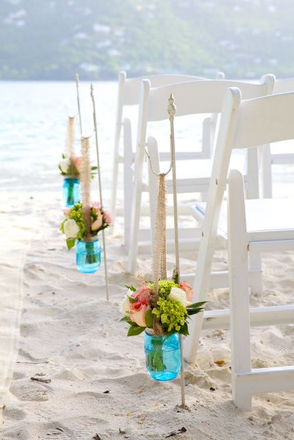 Picture Of Blue Beach Wedding Ideas 23