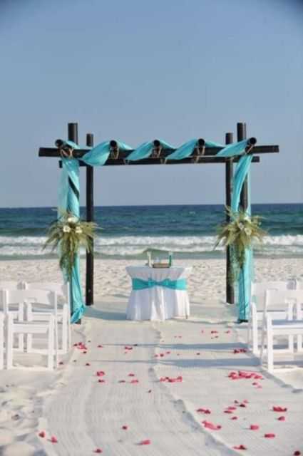 Picture Of Blue Beach Wedding Ideas 27