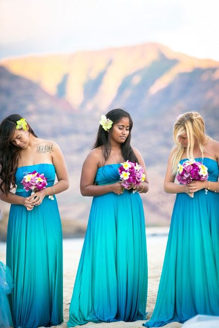 30 Romantic Blue Beach Wedding Ideas