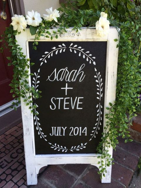 Picture Of Creative And Trendy Chalkboard Wedding Ideas 2