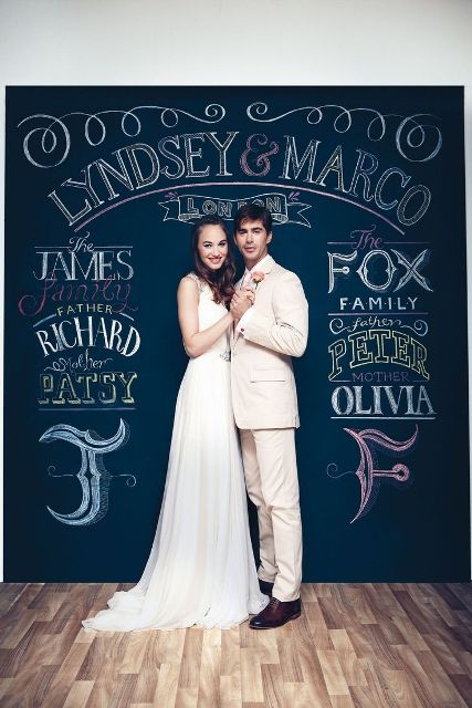 Amazing Creative And Trendy Chalkboard Wedding Ideas