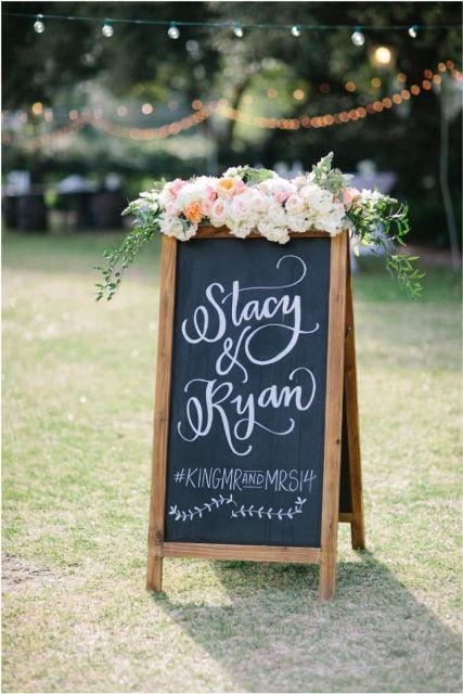 30 creative and trendy chalkboard wedding ideas