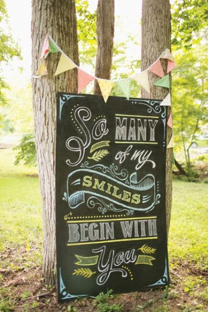 Picture Of Creative And Trendy Chalkboard Wedding Ideas 9