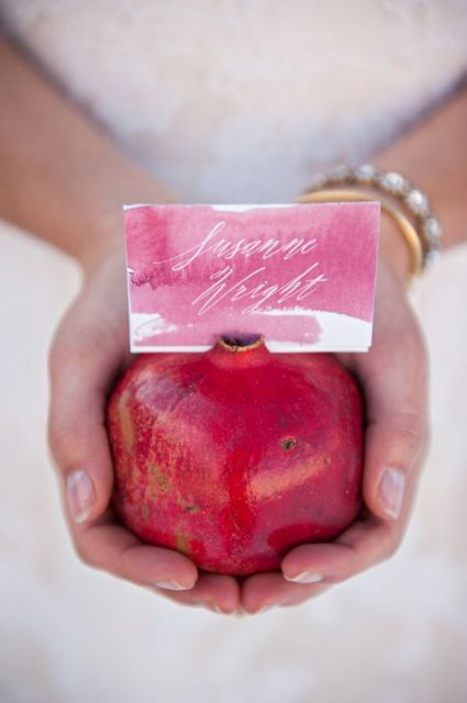 Gorgeous Ways To Incorporate Pomegranates Into Your Wedding Day