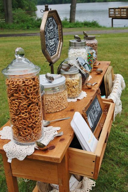 30 Tasty Wedding Snack Ideas And Ways To Display Them - Weddingomania