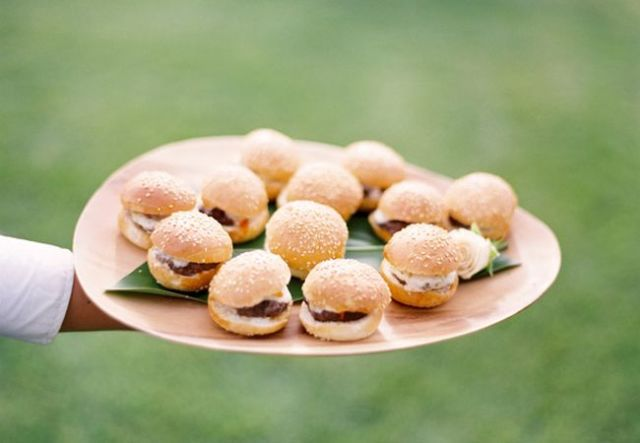 mini sliders are a delicious idea of a crowd pleasing snack, everyone loves fast food