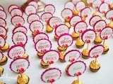 Ferrero Rocher chocolates with toppers are great as escort cards and wedding favors at the same time