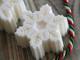 snowflake-shaped white chocolate is amazing for winter or Christmas wedding favors