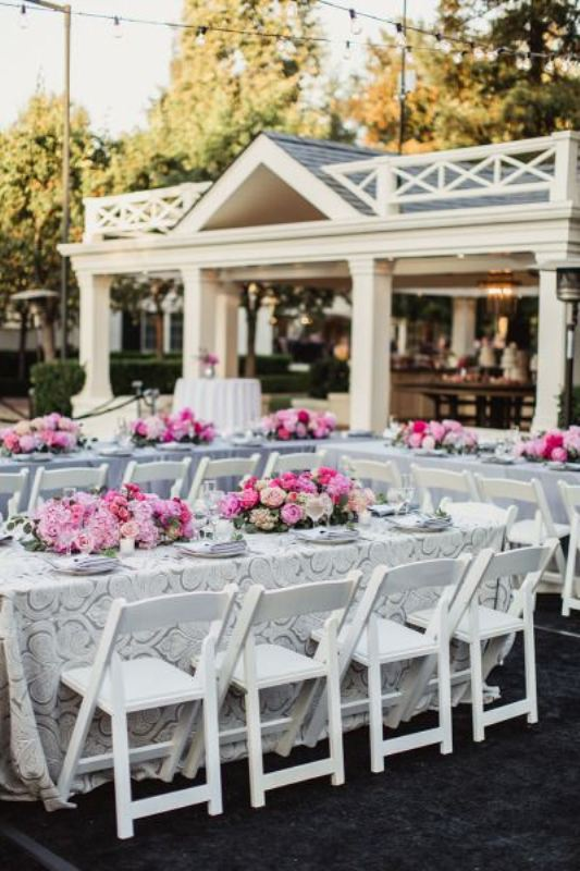 Picture Of awesome backyard wedding tables to get inspired  10