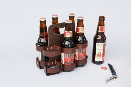 a holder for beer bottles is a creative and fun idea of a groomsmen gift, most of guys will appreaciate it