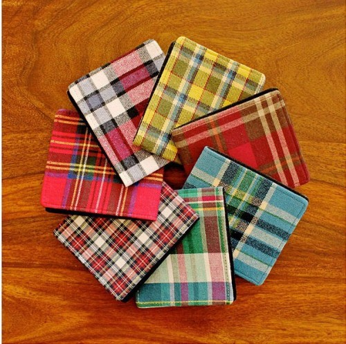 colorful plaid notebooks are great groomsmen gifts that are very budget-friendly and cool
