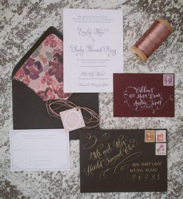 Beautiful And Creative Calligraphy Wedding Ideas