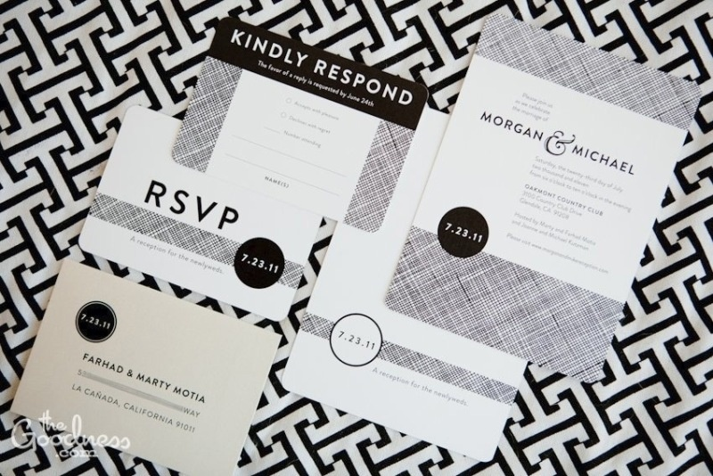 black and white wedding invitations points to love seal and send – Cheap Black and White Wedding Invitations