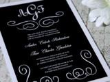 30 Black And White Wedding Invitations