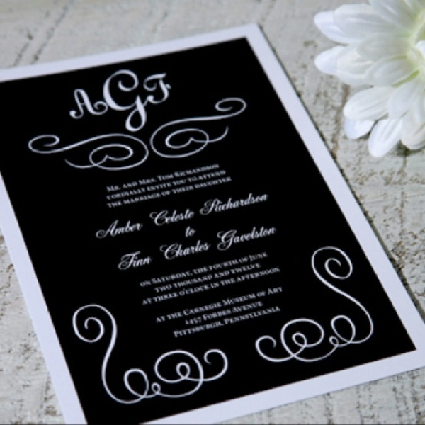 Exceptional Black And White Wedding Invitations
