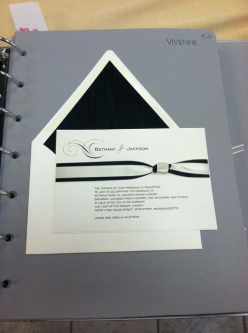 30 Inspiring Black And White Wedding Invitations
