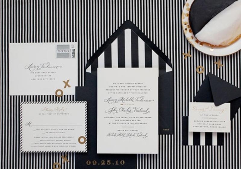 Captivating Black And White Wedding Invitations