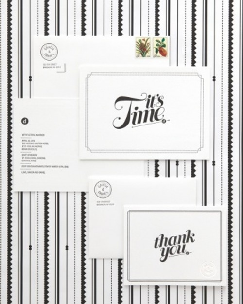 30 Inspiring Black And White Wedding Invitations