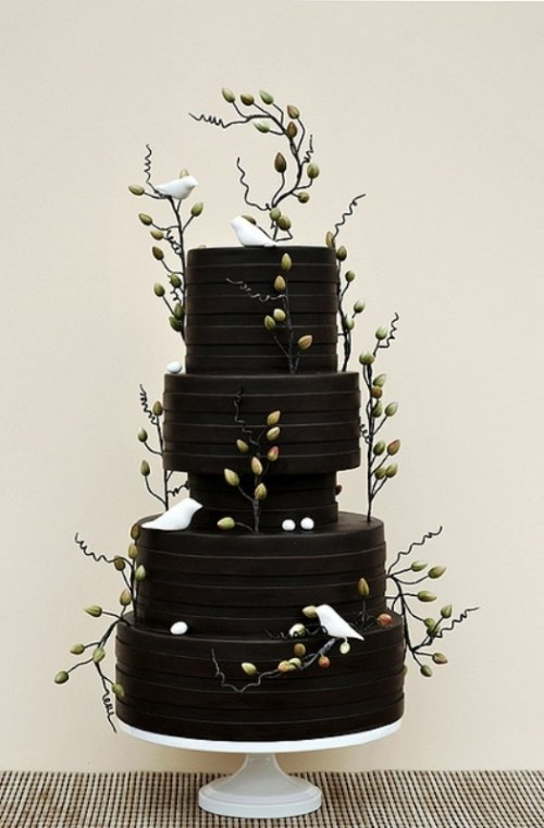 Boldly Diffe And Chic Black Wedding Cakes