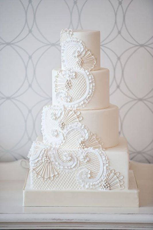Of Chic Vintage Style Wedding Cakes With An Old World Feel 14 - Old Fashioned Wedding Cake