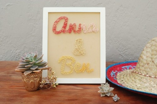 Cool And Creative Ways Of Using Yarn In Your Wedding
