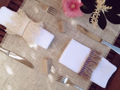 Creative Napkin Rings Ideas As Pretty Wedding Table Decor Adornment