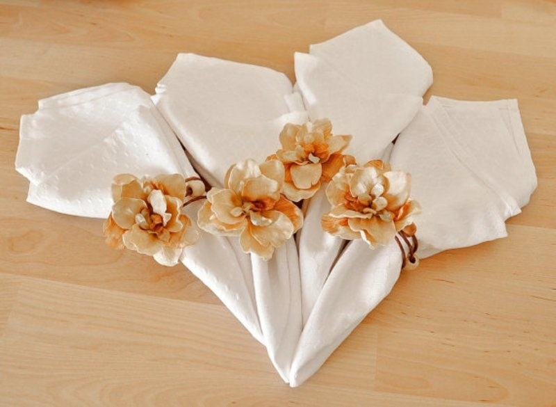 picture of creative napkin rings ideas as pretty wedding table decor adornment - Wedding Napkin Rings
