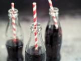 offer Coke for wedding drinks and add colorful strawsto add a cute retro touch to the wedding