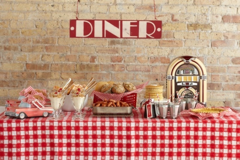 Picture of fun 50 s retro theme ideas for Decoration retro cuisine
