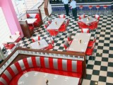 a retro-inspired diner is a perfect venue for a retro wedding, it has the right ambience in itself
