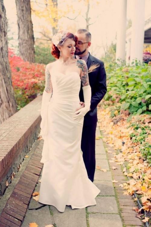 Gorgeous Brides That Embrace Their Tattoos