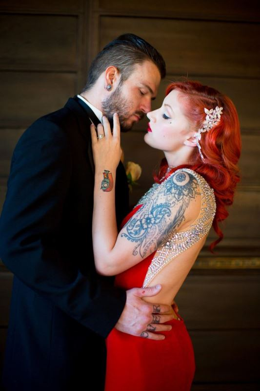 Picture Of gorgeous brides that embrace their tattoos  15