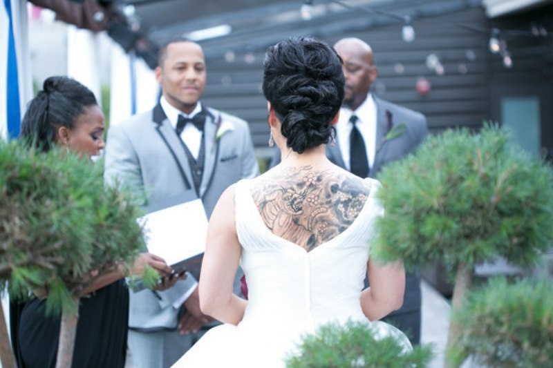 Picture Of gorgeous brides that embrace their tattoos  25