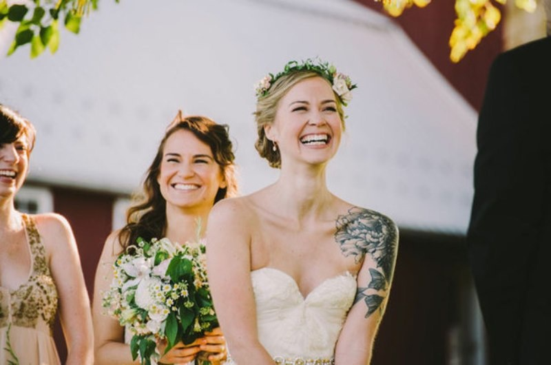 Picture Of gorgeous brides that embrace their tattoos  28