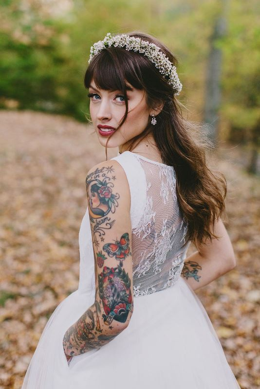 Picture Of gorgeous brides that embrace their tattoos  29