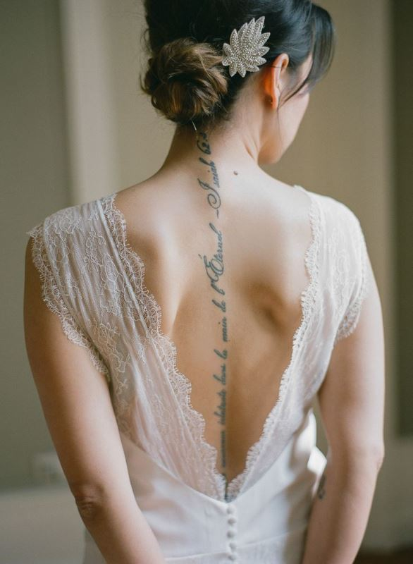 Picture Of gorgeous brides that embrace their tattoos  3
