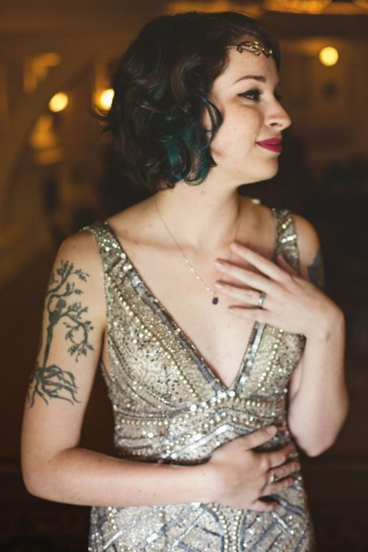 Picture Of gorgeous brides that embrace their tattoos  4