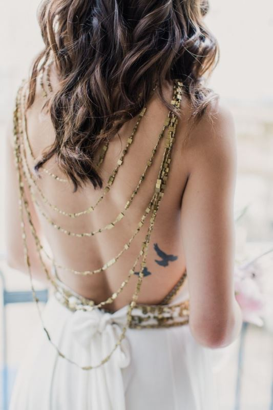 Picture Of gorgeous brides that embrace their tattoos  9