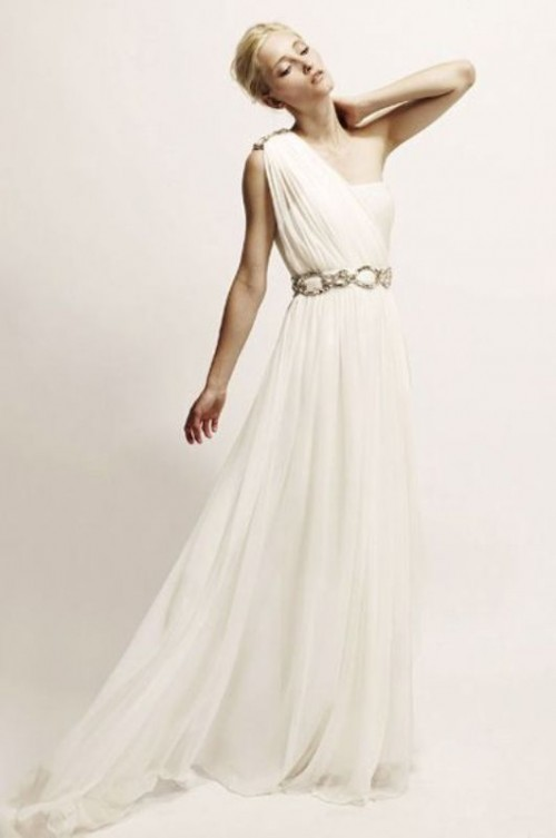 30 Gorgeous Grecian Drapery Wedding Dresses - Weddingomania