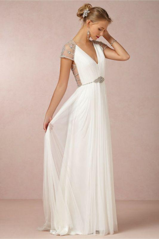 30 Gorgeous Grecian Drapery Wedding Dresses - Weddingomania