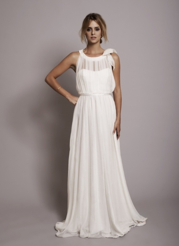 Gorgeous Grecian Drapery Wedding Dresses