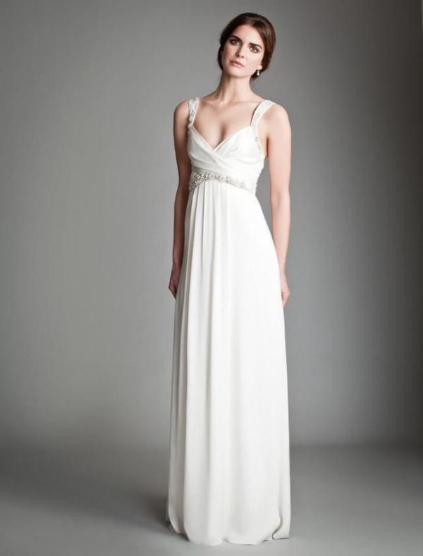 Picture Of Gorgeous Grecian Drapery Wedding Dresses