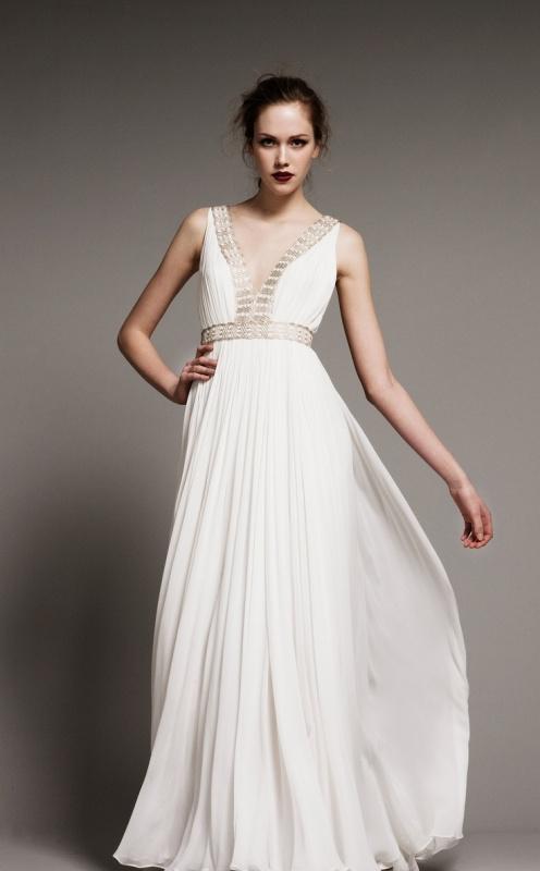 gorgeous grecian drapery wedding dresses