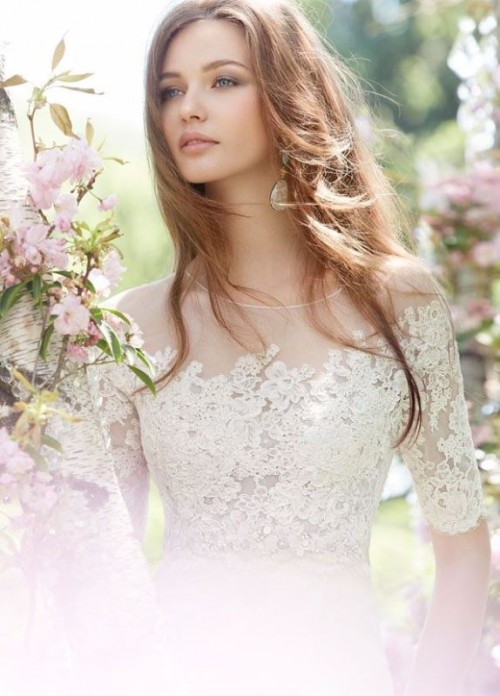 30 Gorgeous Illusion Necklines Wedding Dresses