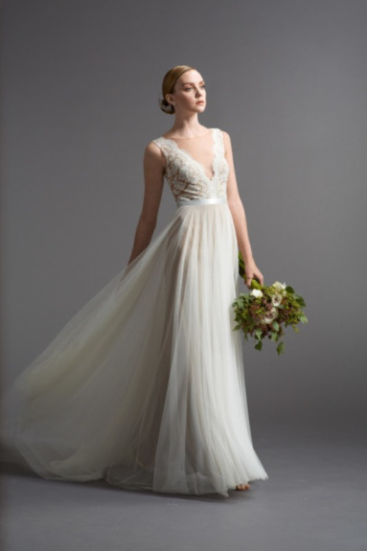 Picture Of gorgeous illusion necklines wedding dresses  16