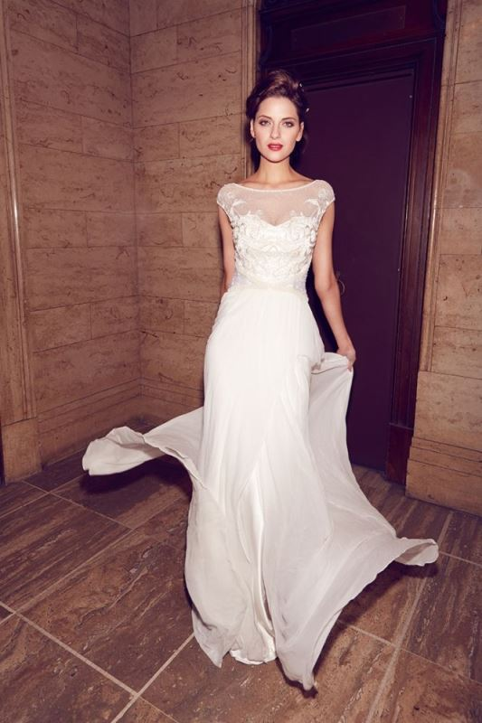 Picture Of gorgeous illusion necklines wedding dresses  17
