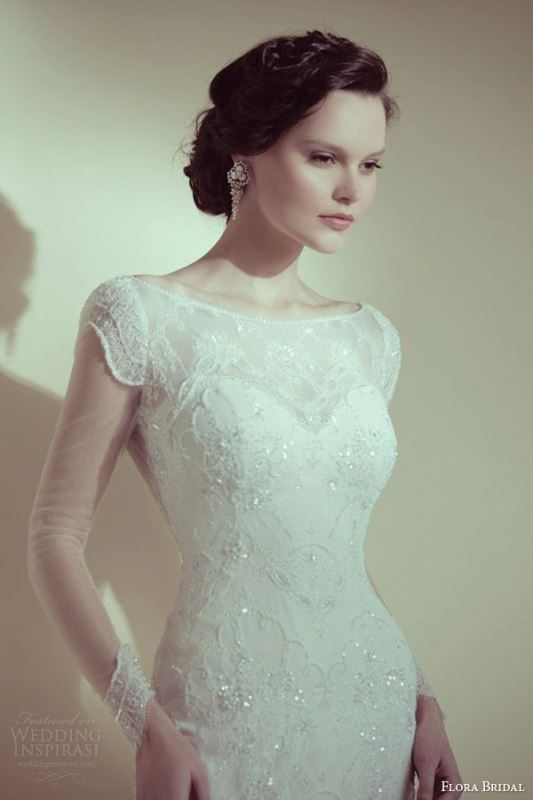 Picture Of gorgeous illusion necklines wedding dresses  20